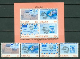 Ghana 1974 Yv 495/98** + Bf 53**, Mi 548/51** + Bl 55**  MNH - Ghana (1957-...)