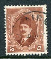 Egypt 1923-24 King Fuad I - 5m Chestnut Used (SG 115) - Egypt