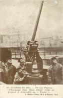 """Guerre De 1914. Tir Aux PIgeons. Equipage Train Blindé Belge S´appretant à Descendre Un """"Taube"""". CPA Animée - Oorlog 1914-18"""
