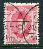 Egypt 1923-24 King Fuad I - 10m Bright Rose Used (SG 116) - Egypt