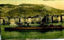 N°49666 -cpa Toulon -aviso Escorteur (?) - Guerra