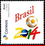 Ref. BR-V2014-29 BRAZIL 2014 - FOOTBALL-SOCCER, WORLD CUP CHAMPIONSHIP, 2014, STAMP PERSONALIZED, MNH,1V - World Cup