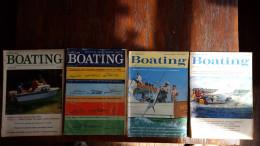 Popular Boating, 4 Maandbladen: 1962: Jan, Feb, Maart, April - Transports
