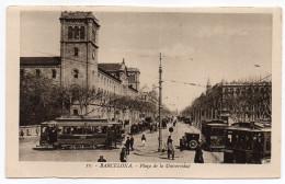 Espagne--BARCELONA--Plaza De La Universidad (très Animée,tramways,voiture) N°11 éd L.Roisin-Beau Plan--Belle Carte - Barcelona