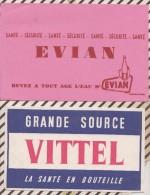 105 BUVARD Lot De 4  EAU Minerale VITTEL EVIAN VICHY CONTREXEVILLE - Blotters