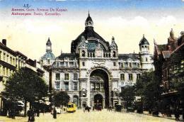 [DC2781] CPA - BELGIO - ANVERS - GARE AVENUE DE KEYSER - TRAM - Viaggiata - Old Postcard - Belgio
