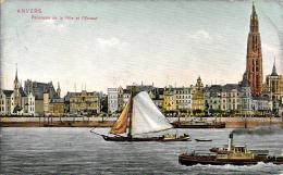 [DC2787] CPA - BELGIO - ANVERS - PANORAMA DE LA VILLE ET L'ESCAUT - Viaggiata - Old Postcard - Non Classificati