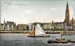 [DC2787] CPA - BELGIO - ANVERS - PANORAMA DE LA VILLE ET L'ESCAUT - Viaggiata - Old Postcard - Belgio