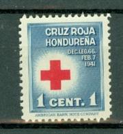 Honduras 1941 Red Cross 1**  MNH - Honduras