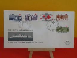 Néderland -Rode Kruis Hospitaalschip 1963 FDC - Croix-Rouge Bateau Hôpital En 1963 FDC - 1949-1980 (Juliana)