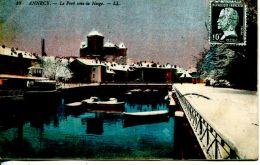 N°49684 -cpa Annecy -le Port Sous La Neige- - Annecy