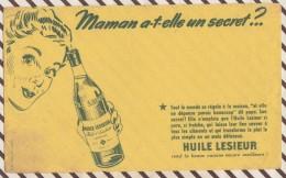 113 BUVARD  HUILE LESIEUR MAMAN A T ELLE UN SECRET ? 21 X 13.5 CM Pliure - Food