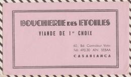 117 BUVARD BOUCHERIE DES ETOILES CASABLANCA  22 X 12.5 CM - Food