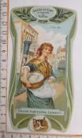 Chromo Calendrier 1904 - 1905 /  SAVON LE CHAT à Travers Le Monde / Italie / Femme Lingère / Style Art Nouveau - Trade Cards
