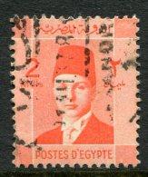 Egypt 1937-44 Investiture Of King Farouk - 2m Vermilion Used (SG 249) - Egypt