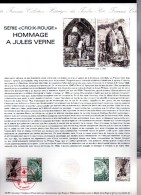 """ASSEZ  RARE  --  FRANCE  1982   --  Y & T  2247 / 48   --    """"""""  HOMMAGE  A . JULES  VERNE   """"""""    --   NEUF... - Documents Of Postal Services"""