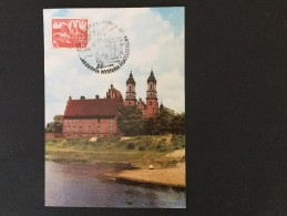 Poznan Ostrow Tumski Bazylika----photo:P.Krassowskiego,-- Briefmarke 40 Gr,ahnliche Abbildung Gebraucht 30-8-1968 - Maximumkarten