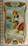 Chromo Calendrier 1904 - 1905 /  SAVON LE CHAT à Travers Le Monde / Suisse / Femme Lingère / Style Art Nouveau - Chromos