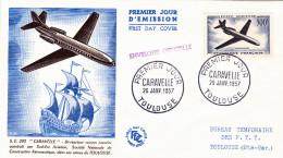 FDC N° 35 Et 36 Caravelle Et Alouette - 1950-1959