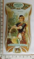 Chromo Calendrier 1904 - 1905 /  SAVON LE CHAT à Travers Le Monde / Ecosse / Femme Lingère / Style Art Nouveau - Trade Cards