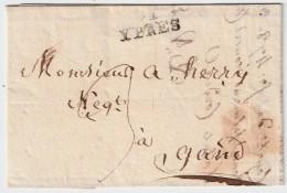 "1814 (Sept.) "" 91 YPRES ""  Rare 1814  , #5750 - 1814-1815 (General Gov. Belgium)"
