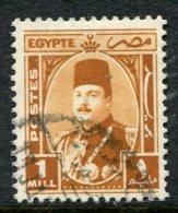 Egypt 1944-52 King Farouk - 1m Orange-brown Used (SG 291) - Egypt