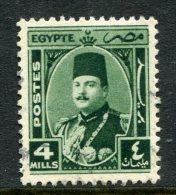 Egypt 1944-52 King Farouk - 4m Green Used (SG 294) - Egypt