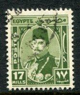 Egypt 1944-52 King Farouk - 17m Olive-green Used (SG 299) - Egypt