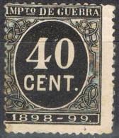 Sello 40 Cts Impuesto De Guerra 1898, VARIEDAD De Impresion º - Impuestos De Guerra