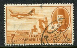 Egypt 1947 Air - 7m Orange-brown Used (SG 325) - Egypt
