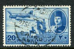 Egypt 1947 Air - 20m Blue Used (SG 328) - Egypt