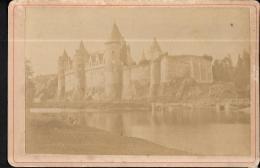 Ancienne Photo Du Chateau De Josselin ( Le Trait Blanc Est Du Au Scan) - Format 14,5 X 9,6  - Pma3901 - Ancianas (antes De 1900)