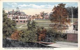 Maine - Riverton Park And Casino From The Prsesumpscot - Portland - 2 SCANS - Portland