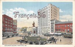 Maine - Monument Square - Portland - 2 SCANS - Portland
