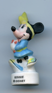 "BB - FEVE  - FEVES - ""DISNEY"" - MINNIE - MATE - TURBAN JAUNE ROBE BLEUE - Disney"
