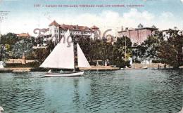 California - Sailtboat Sailing On The Lake Westlake Park - Los Angeles - 2 SCANS - Los Angeles
