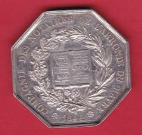 France Compagnie Des Notaires De L'arrondissement Du Havre 1844 - Argent - Adel
