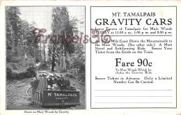 California - Mt. Tamalpais Gravitiy Cars - Down To Muir Woods By Gravity - 2 SCANS - Vereinigte Staaten