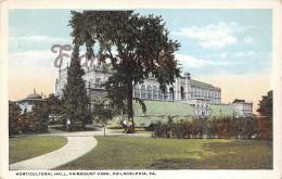 Pennsylvania - Horticultural Hall Fairmount Park - Philadelphia - 2 SCANS - Philadelphia