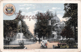 Pennsylvania - Logan Square And Fountain - Philadelphia - 2 SCANS - Philadelphia