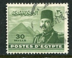 Egypt 1947-51 King Farouk - 30m Deep Olive Used (SG 340) - Egypt