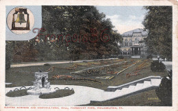 Pennsylvania - Sunken Gardens And Horticultural Hall Fairmount Park - Philadelphia - 2 SCANS - Philadelphia