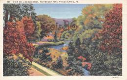 Pennsylvania - View On Lincoln Drive Fairmount Park - Philadelphia - 2 SCANS - Philadelphia