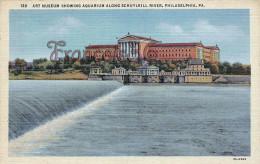 Pennsylvania - Art Museum Showing Aquarium Along Schuylkill River - Philadelphia - 2 SCANS - Philadelphia