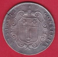 France Médaille Louis XV Consiliis Assiduis - Argent - Adel