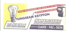Buvard Tungstram Kryton Lumière Incomparablement Plus Blanche Fabrication Claude PAZ Et SYLVA - Electricité & Gaz