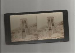 MARSEILLE (13) PHOTO STEREOSCOPIQUE DE L'ASCENSEUR DE NOTRE DAME DE LA GARE 1893 - Stereoscopic