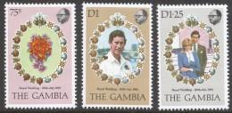 Gambia. 1981 Royal Wedding. MNH Complete Set. SG 454-456 - Gambia (1965-...)