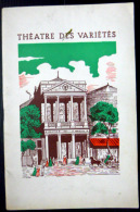 RAYMOND DEVOS PROGRAMME  THEATRE DES VARIETES 1964 - Programs