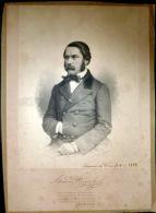 MUSIQUE  PORTRAIT DE ALEXANDRE DREYSCHOCK  COMPOSITEUR  LITHOGRAPHIE  ANNEES 1850 PIANO CLASSIQUE CONCERT - Lithographies